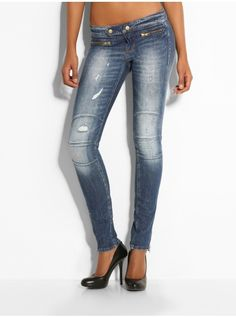 Jegging Biker Bale Denim Pant
