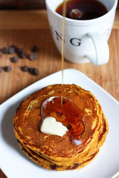 Great recipe! Personal preference, I use less choc chips. Chocolate Chip Pumpkin Spice Pancakes