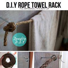 DIY Rope towel rack - very easy
