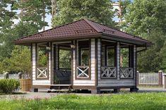 Дом Беседка - барбекю размер 4х4 » Каталог » Терем | www.terem-pro.ru