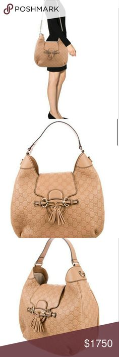 Gucci guccissima Emily Hobo Gucci Guccissima Emily Hobo in Beige. This bag is almost new never been used but does not have the tags. Comes with dust bag and care cards. Gucci Bags Shoulder Bags