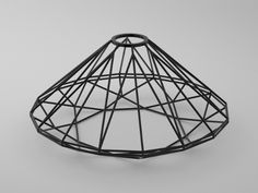 "diamond shaped lampshade ""eppler"" brillant - easy to attach to a socket. Additive manufacturing / 3D printing."