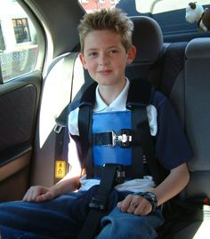 Special needs seatbelt harness for older children out of a car seat