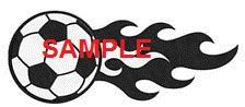 Soccer Ball and Flames Cross Stitch Chart by crossstitcher1 on Etsy
