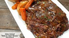 """Slow Cooker """"Melt in Your Mouth"""" Pot Roast – Healthy To Fit"""