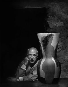 Yousuf Karsh: Pablo Picasso, 1954 The maestro's villa was a photographer's nightmare, with his boisterous children bicycling through vast rooms already crowded with canvases. I eagerly accepted Picasso's alternate suggestion to meet later in Vallauris at his ceramic gallery.
