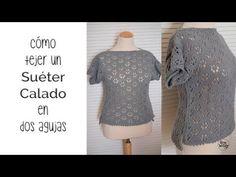 Cómo tejer un SUÉTER CALADO de punto: costura invisible PARTE 3 - YouTube