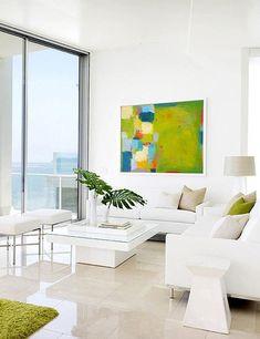 Living area in stunning modern beachfront house | Salón de preciosa casa de playa moderna · ChicDecó
