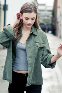 Brandy ♥ Melville   Alice Military Jacket - Jackets - Outerwear - Clothing