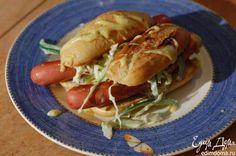 Хот-доги с зелеными овощами и горчичным майонезом от Юлии Высоцкой Вкусные хотдоги — отличный вариант для перекуса! #едимдома #готовимдома #рецепты #кулинария #юлиявысоцкая #вкусно
