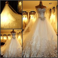 New White/Ivory Lace Bridal Gown Wedding Dress Size 6 8 10 12 14 16 18++