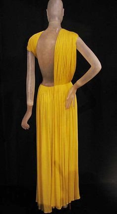 Madame Grès (Alix Barton), (French, Paris 1903–1993 Var region) | Silk Evening Dress, 1967 | Gift of Mrs. Marjorie Reed Gordon, 1994