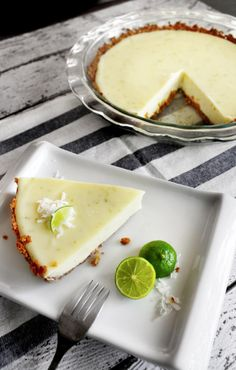 Key lime pie with graham cracker coconut crust  (made without eggs)