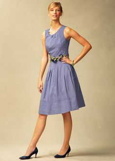 talbots pink fit and flare dress 2013 | Talbots Pindot fit-and-flare dress