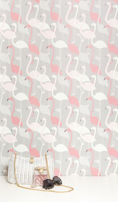 Flamingo Dance #wallpaper by kimberly lewis home. - shit. need it.