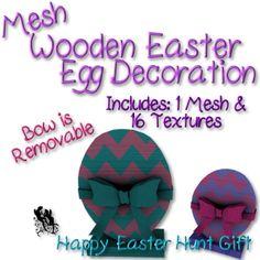 FUD Wooden Easter Egg Decoration Ad HUNT