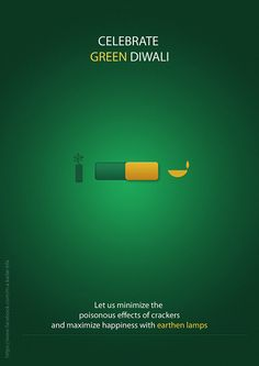 Diwali is a festival of lights (not Pollution). Celebrate a cracker-free, Share the word!