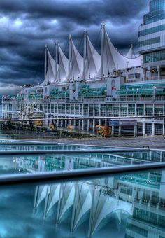 Canada Place ~ Vancouver - I am lucky enough to work in a beautiful waterfront location where constant tourism and cruise ship traffic make for a dynamic environment.