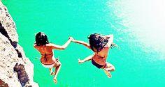 Jumping in water with the bestie :) A Way Of Life, Photo Editor, Besties, Bikinis, Swimwear, Greece, Best Friends, Sea, Explore