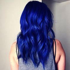 This hair is as blue as it gets!  Such a burst of colour  #inspirehairstyles