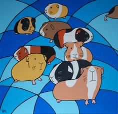 painting of guinea pigs my good friend did for me