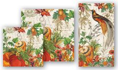"""Soft, triple-ply paper cocktail napkins coordinate with our luncheon or hostess napkins, paper plates and our glass and wooden trays. Folded size: 5"""" x 5"""" (12.5 cm x 12.5 cm). - 20 Napkins per package."""