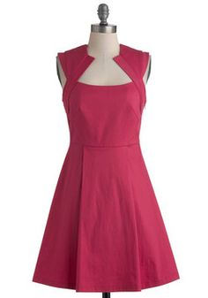 $74.99  Founder's Day and Commissioning?   Pink Happy Thoughts Dress, #ModCloth