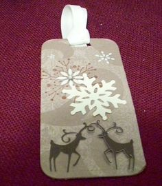 Reindeer Games Handmade Christmas Gift Tag Set of Six ...