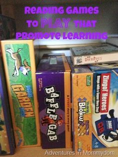 Reading Games for School | Adventures in MommydomAdventures in Mommydom