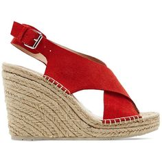 Dv Dolce Vita Espadrille Platform Wedge Sandals - Sovay ($57) ❤ liked on Polyvore featuring shoes, sandals, wedges, coral, leather strap sandals, dolce vita, dolce vita sandals, coral shoes and wedge espadrilles