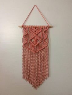 Learn how to make this simple wall hanging following these step-by-step instructions. This pattern is perfect for beginners. The pattern also tells you how much rope you will be using for this project. This listing is for ONE macrame pattern. Knot guide and finished product not
