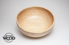 Wooden Bowl Hand Wood turned Hickory Bowl Handmade