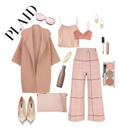 """""""plaid pants"""" by kiwwiiii ❤ liked on Polyvore featuring River Island, Alice + Olivia, Zimmermann, Louis Vuitton, Burberry, S'well, Cartier, Chanel and Chantecaille"""