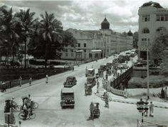 Jalan Tun Perak Kuala Lumpur in the early Old Photos, Vintage Photos, Straits Settlements, Kuala Lumpur City, High Art, Back In Time, Old Buildings, Archipelago, Historical Photos