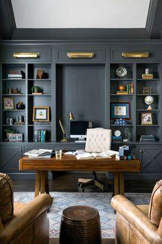 Home Office Setup, Home Office Space, Office Ideas, Desk Office, Office For Men, Home Office Layouts, Office Inspo, Work Desk, Office Interior Design