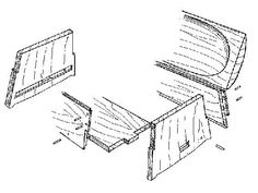 Viking Answer Lady Webpage - Woodworking in the Viking Age Viking Chest Viking Tent, Viking Camp, Viking Life, Woodworking Patterns, Woodworking Plans, Woodworking Projects, Medieval Furniture, Viking Reenactment, Wooden Chest