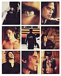 Damon Salvatore | Ian Somerhalder....Bad boy vamp with a romantic heart! Has to be mean when he is sweet!