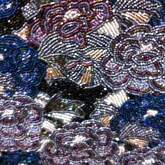 Bag of glass beads embroidery