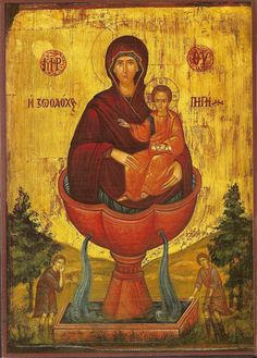This is an image of the Virgin Mary, and it is worshipped. How is this different from the Bronx grotto? Byzantine Icons, Byzantine Art, Religious Icons, Religious Art, Orthodox Catholic, Orthodox Christianity, Roman Catholic, Russian Icons, Religious Paintings
