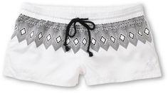 Roxy Free Sky White & Tribal Board Shorts $34.99