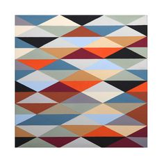 Richard Blanco is a Chicago-based painter whose geometric paintings I'm completely taken with. Some of his abstract works are for sale as prints on Society