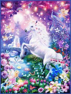 Ravensburger Puzzle, Fantasy Kunst, Fantasy Art, Fantasy Creatures, Mythical Creatures, Unicornios Wallpaper, Unicorn Art, Unicorn Diys, Unicorn Fantasy