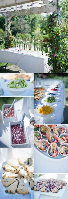 """Love the idea of all food """"from the garden""""! Fresh fruit and vegetable quiches. Rose petal cookies, biscuits made with fresh herbs, etc."""