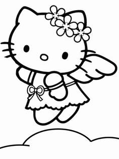 free hello kitty printable coloring pages - Printable Cartoon Images