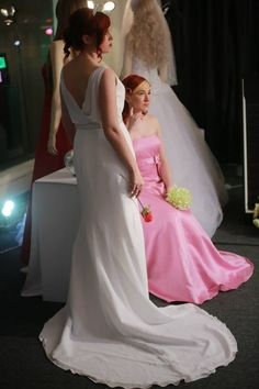 elegant destination bridal and pink bridesmaid. perfect for springtime!