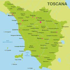 MAPA DE LA TOSCANA - Google-søgning