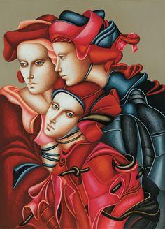 Artodyssey: Carmen Aldunate Illustrations, Illustration Art, Pakistan Art, Romanticism Artists, Russian Art, Fantastic Art, Silk Painting, Artistic Photography, Contemporary Paintings