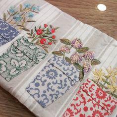 """좋아요 263개, 댓글 9개 - Instagram의 mimi ~ (@lmrblue)님: """"#Embroidery#stitch#needlework #프랑스자수#자수#일산프랑스자수 #자수와퀼트~ 프랑스할머니의 작품~"""""""