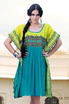 Pick this Bright Long Colorful kurti for you!!  Order now :bit.ly/bright-long-colorful-kurti  PRODUCT CODE :FA1259; Fabric: Georgette