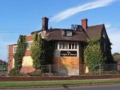 The Wagon & Horses, Coventry Road, Sheldon, Birmingham, awaiting its fate by Ann Causer Birmingham Pubs, Birmingham England, Old Pub, England Uk, Coventry, Great Britain, School Stuff, Ireland, Ann